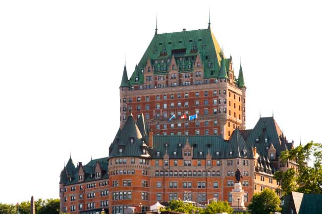 From the Château Frontenac, you'll get magnificent views of the lower old town.