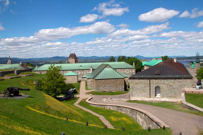 La Citadelle is a fortified complex located within Quebec City.