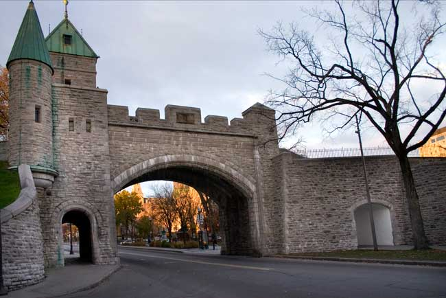 Quebec City old city walls are a UNESCO World Heritage Site since 1985.