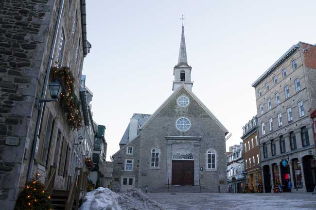 The Place Royale is the central square of Quebec City old town.