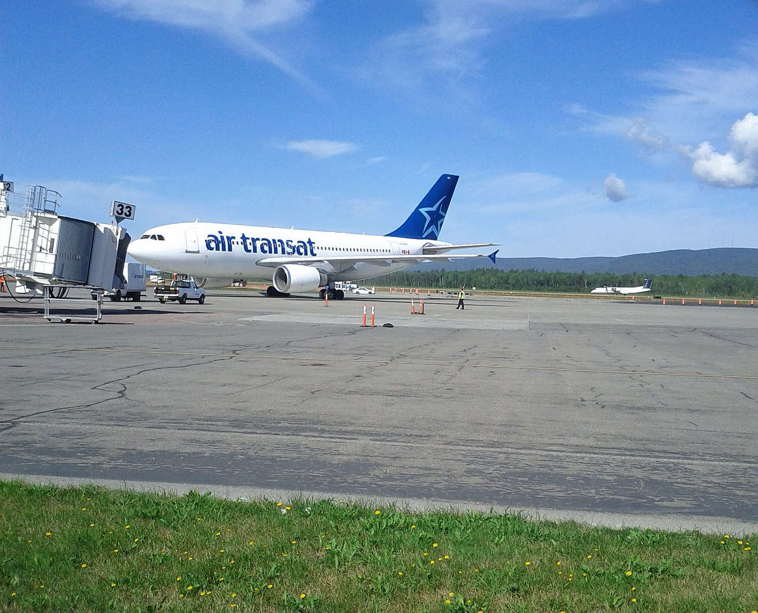 YQB Airport is a hub for Air Transat.